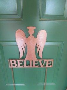 believe angel metal art