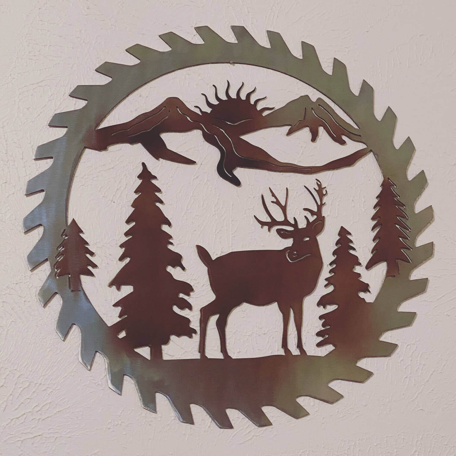 Deer Sawblade Wall Decor