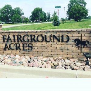 fairground acres metal art